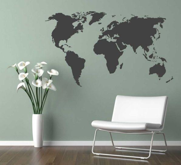 muursticker wereld