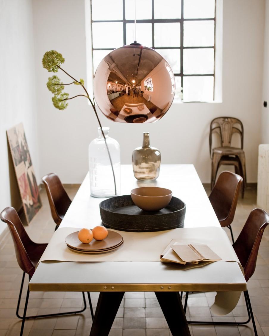 Trend koper in je interieur lifestyle wonen - Deco salon warme kleur ...