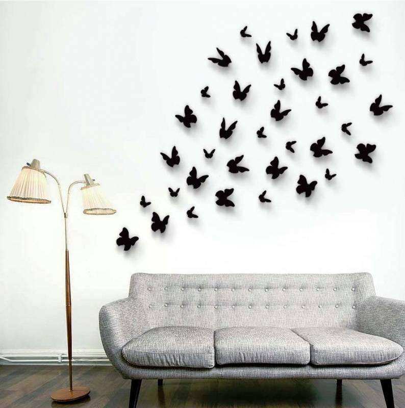 3d-vlinders-zwart