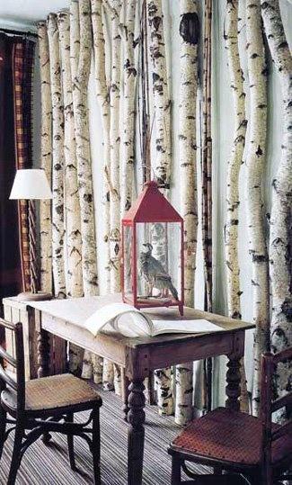 Trend gespot berkenstammen in je interieur - Trend schilderij slaapkamer ...