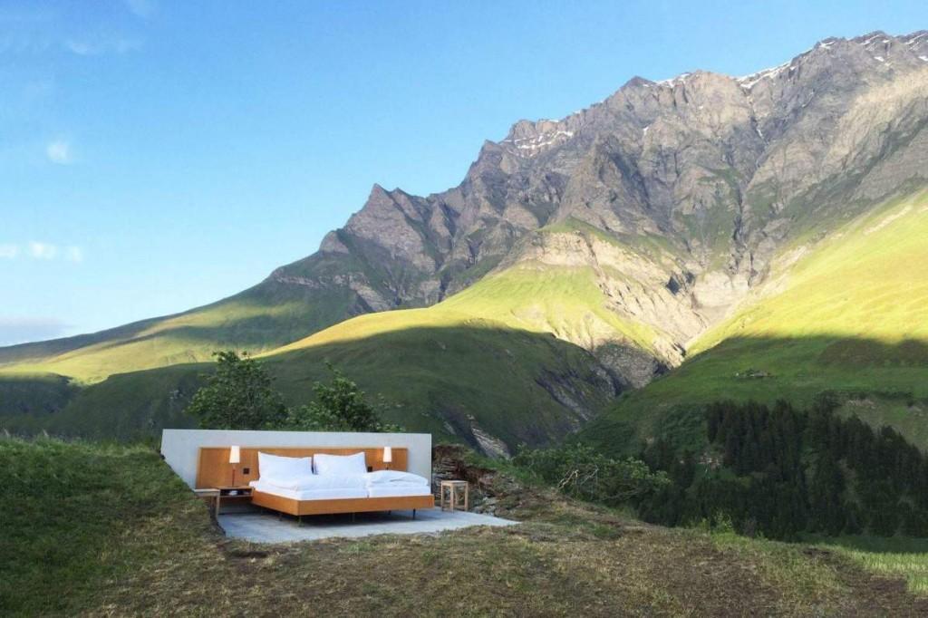 slapen in de bergen