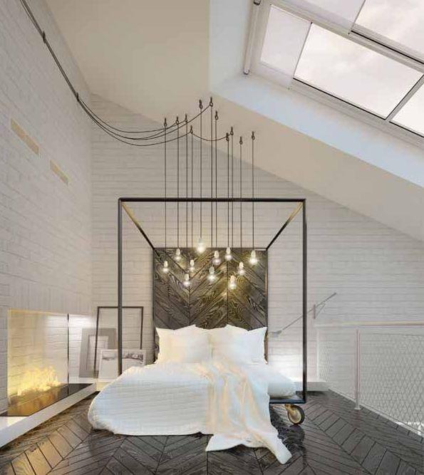 In de wolken met een hemelbed lifestyle wonen - Romantische witte bed ...
