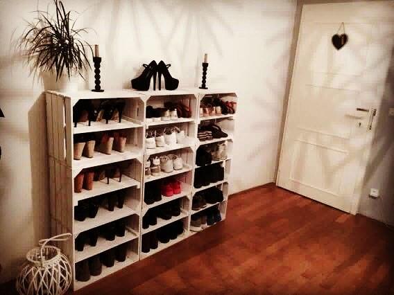 schoenenkast kistjes
