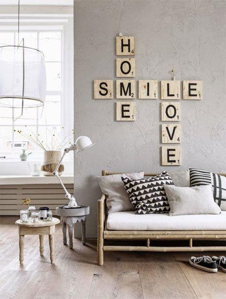 Woonkamer woonkamer inrichten spelletjes : 5x scrabble in je interieur - Lifestyle u0026 Wonen