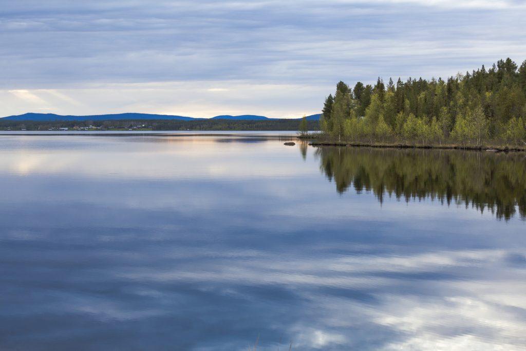 Sky reflection in Lule river