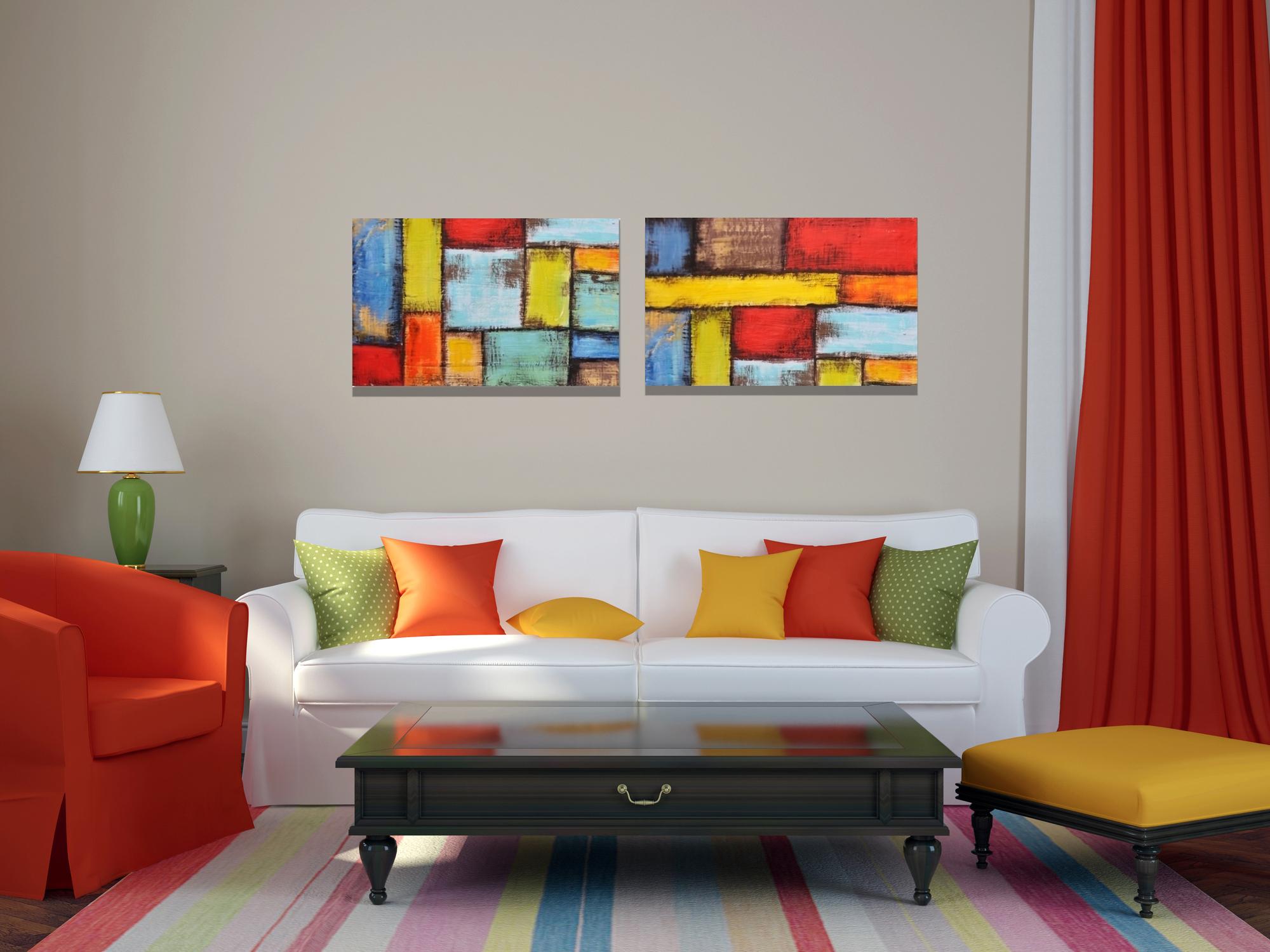 Modern Interieur Schilderij : Metal art schilderij palmbomen jouwschilderijwebshop