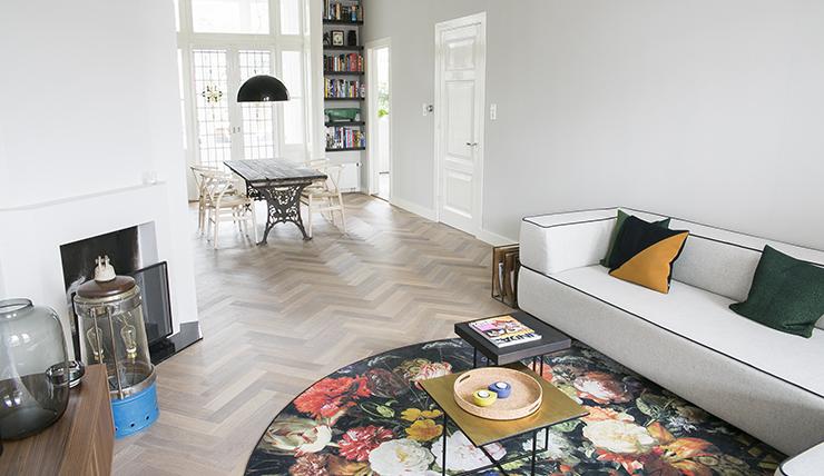 Gerookte visgraat vloer dutzfloors door houten visgraat vloer