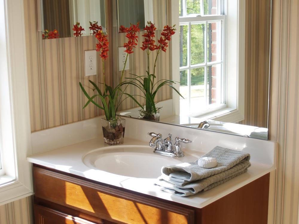 Inspiratie voor een nieuwe badkamer badkamerbehang
